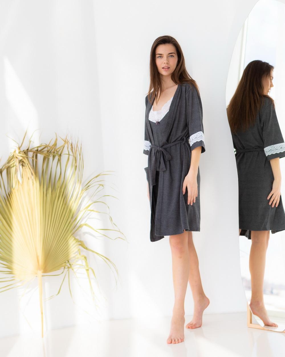Комплект женский халат с сорочкой
